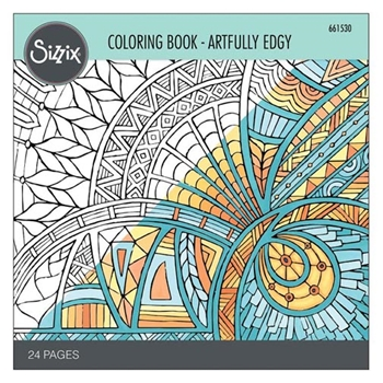 Sizzix ARTFULLY EDGY Adult Coloring Book 661530
