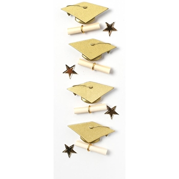 Little B GOLD GRADUATION Mini Stickers 102100