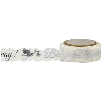 Little B BABY STORK SILVER Foil Die Cut Tape 101069