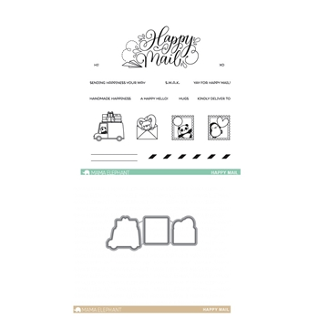 Mama Elephant Clear Stamp and Die MEPT257 Happy Mail SET