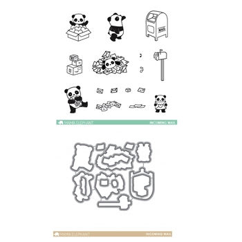 Mama Elephant Clear Stamp and Die MEPT259 Incoming Mail SET