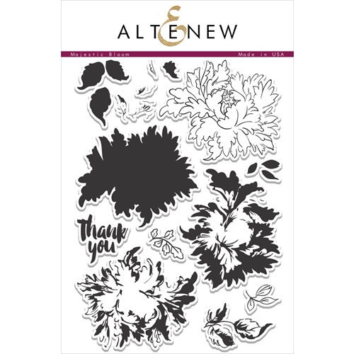 Altenew MAJESTIC BLOOMS Clear Stamp Set ALT1037 Preview Image