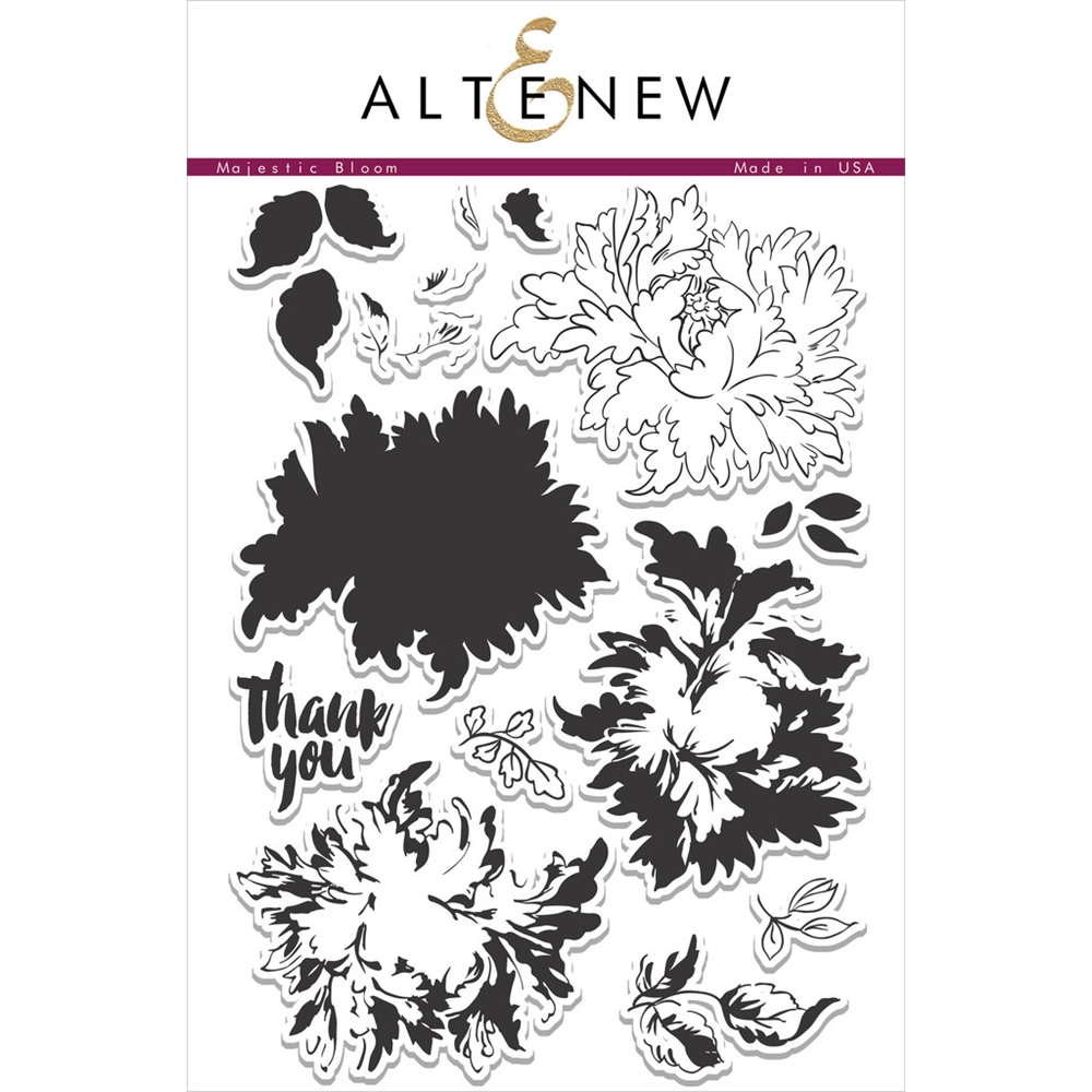 Altenew MAJESTIC BLOOMS Clear Stamp Set ALT1037 zoom image