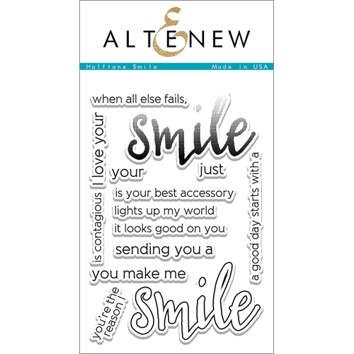 Altenew HALFTONE SMILE Clear Stamp Set ALT1101 Preview Image