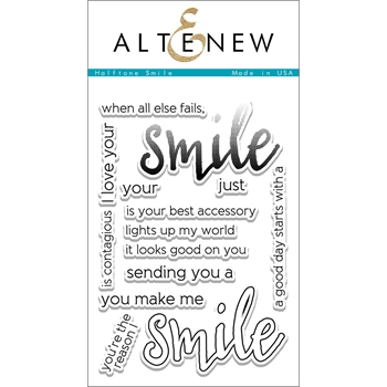 Altenew HALFTONE SMILE Clear Stamp Set