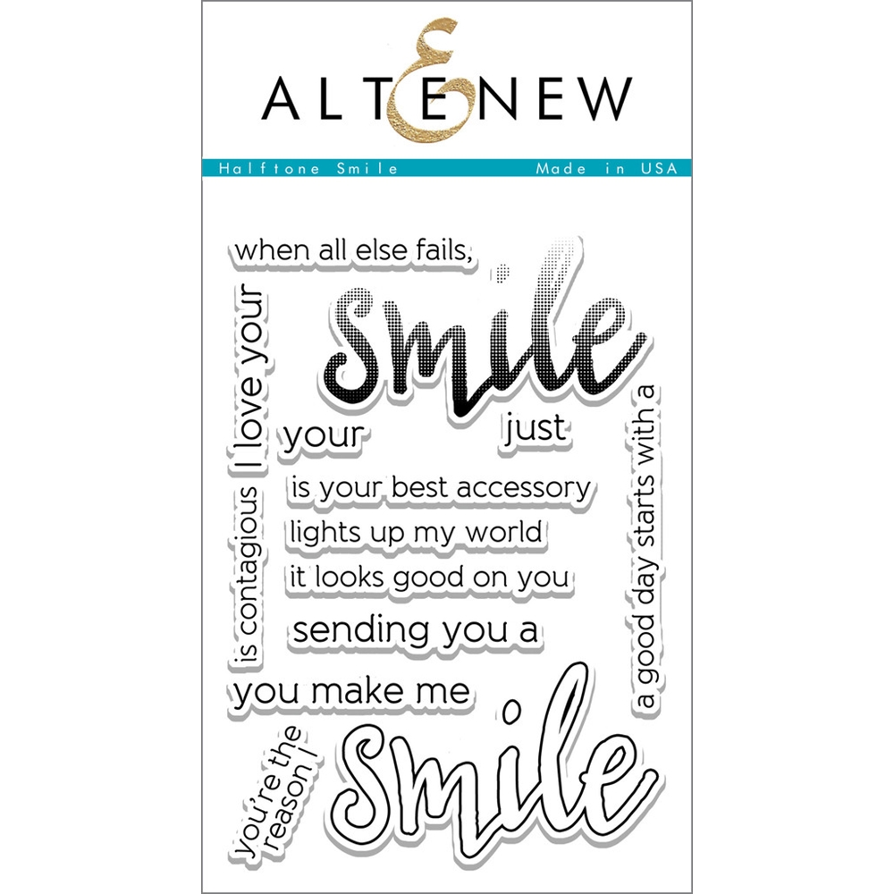 Altenew HALFTONE SMILE Clear Stamp Set  zoom image
