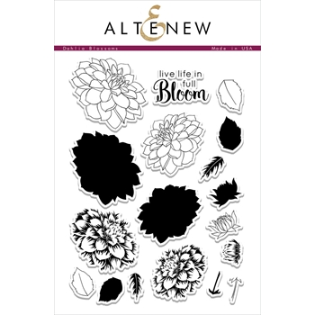 RESERVE Altenew DAHLIA BLOSSOMS Clear Stamp Set