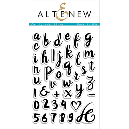 Altenew CALLIGRAPHY ALPHA Clear Stamp Set Preview Image