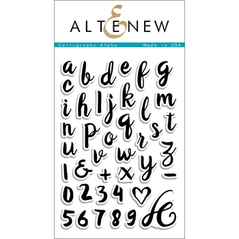 Altenew CALLIGRAPHY ALPHA Clear Stamp Set