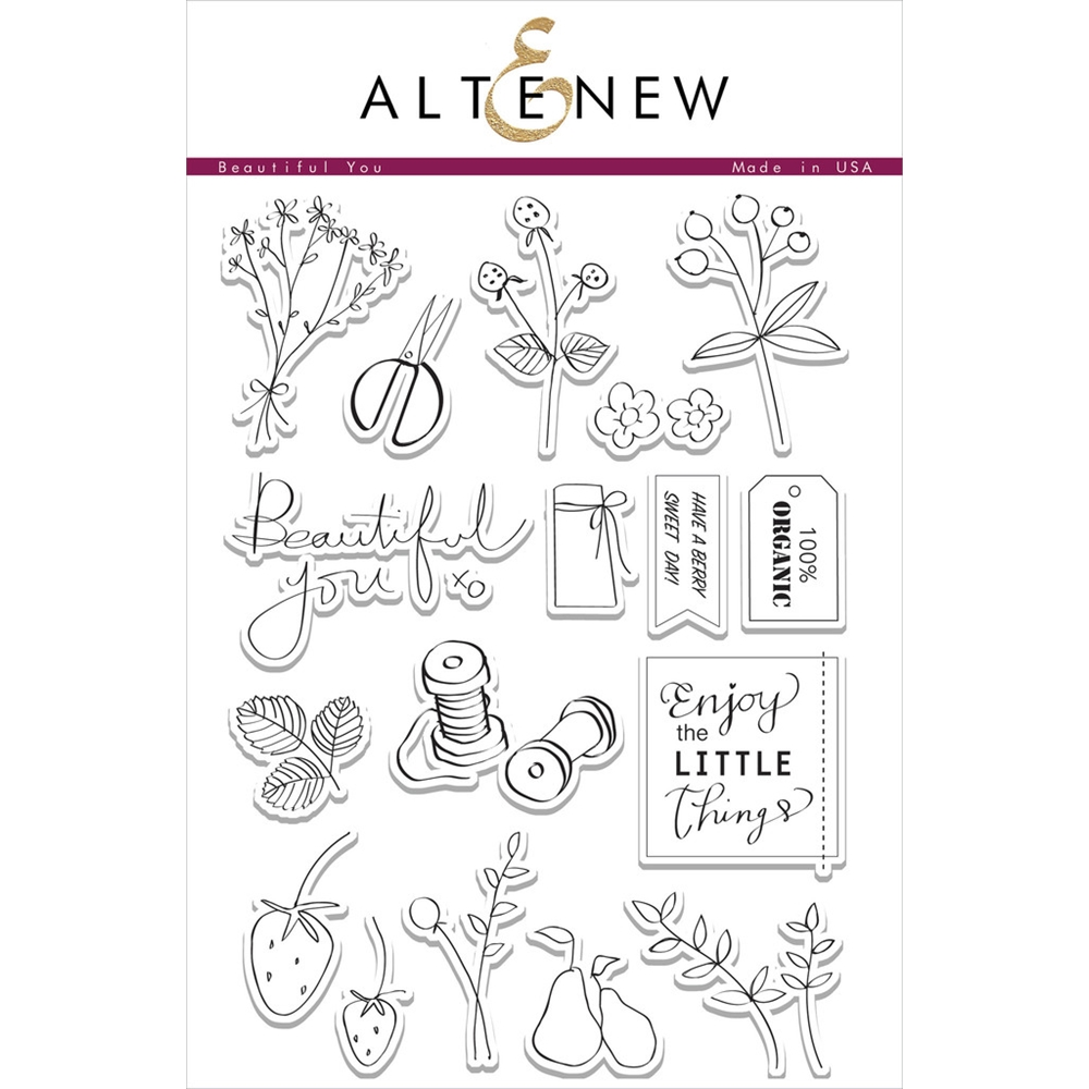 Altenew BEAUTIFUL YOU Clear Stamp Set ALT1055 zoom image