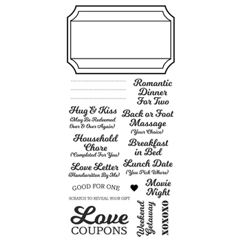 Inky Antics LOVE COUPONS Clear Stamp Set 11334LC
