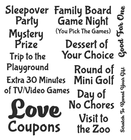 Inky Antics LOVE COUPONS ADD ONS Clear Stamp Set 11335SC