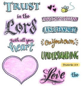 Inky Antics TRUST IN THE LORD Clear Stamp Set 11344SC
