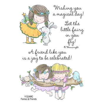 Inky Antics FAIRIES AND FRIENDS Clear Stamp Set 11324MC