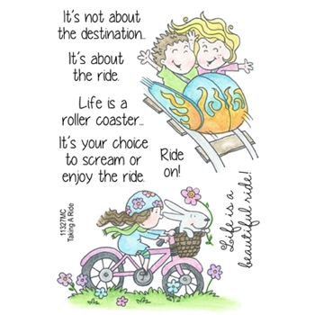 Inky Antics TAKING A RIDE Clear Stamp Set 11327MC
