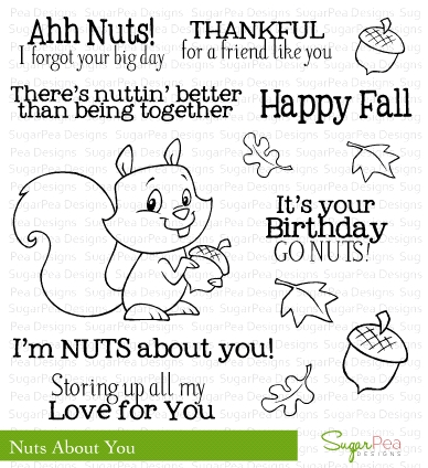 SugarPea Designs NUTS ABOUT YOU Clear Stamp Set SPD00076 zoom image