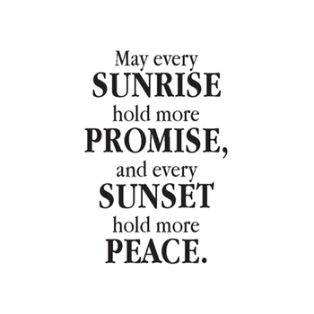 Verses SUNRISE AND PROMISE Cling Stamp MC0352DCL