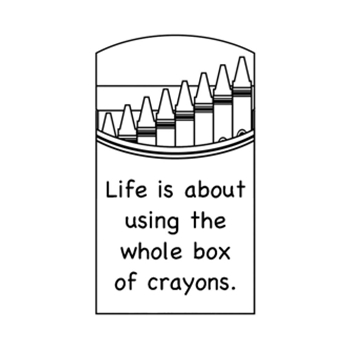 Verses BOX OF CRAYONS Cling Stamp MC0656FCL
