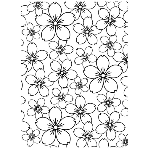 Darice CHERRY BLOSSOM Embossing Folder 121867 Preview Image