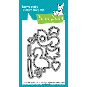 Lawn Fawn FLAMINGO TOGETHER Lawn Cuts Dies LF1174