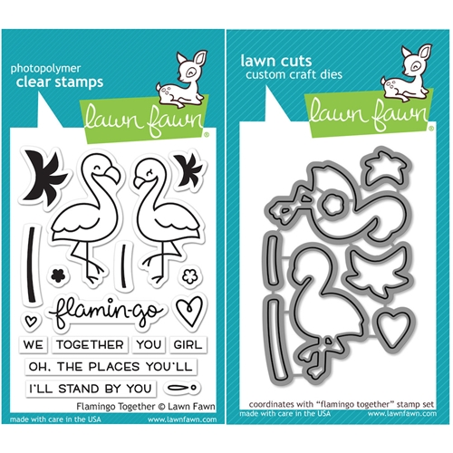Lawn Fawn SET LF16SETFT FLAMINGO TOGETHER Clear Stamps and Dies Preview Image
