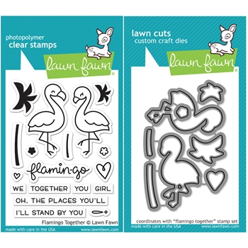 Lawn Fawn SET LF16SETFT FLAMINGO TOGETHER Clear Stamps and Dies