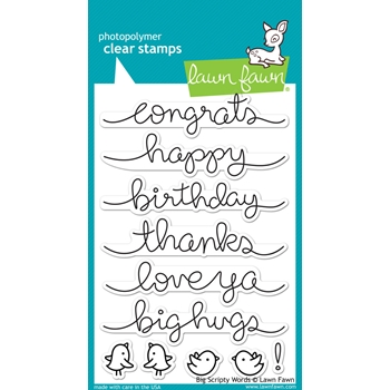 Lawn Fawn BIG SCRIPTY WORDS Clear Stamps LF1171