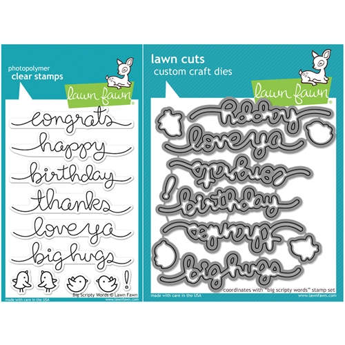 Lawn Fawn SET LF16SETBSW BIG SCRIPTY WORDS Clear Stamps and Dies Preview Image