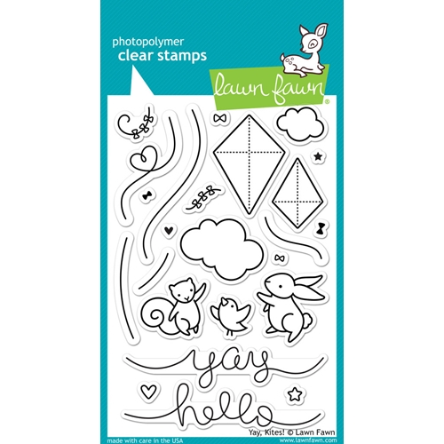 Lawn Fawn Yay Kites ! Clear Stamps
