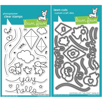 Lawn Fawn SET LF16SETYK YAY KITES Clear Stamps and Dies
