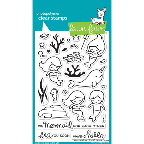 Lawn Fawn MERMAID FOR YOU Clear Stamps LF1167 Preview Image