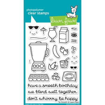 Lawn Fawn SO SMOOTH Clear Stamps LF1165