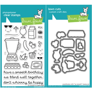 Lawn Fawn SET LF16SETSS SO SMOOTH Clear Stamps and Dies