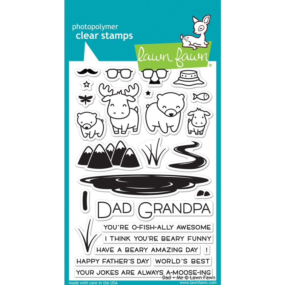 Lawn Fawn DAD AND ME Clear Stamps LF1163 zoom image