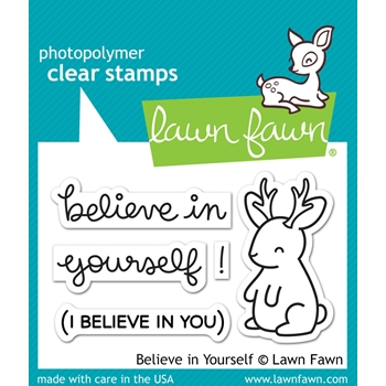 Lawn Fawn BELIEVE IN YOURSELF Clear Stamps LF1042