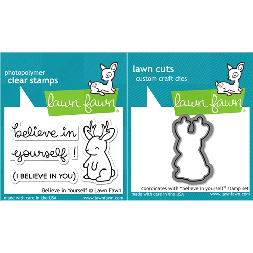 Lawn Fawn Bleieve In Yourself Stamp and Die Set