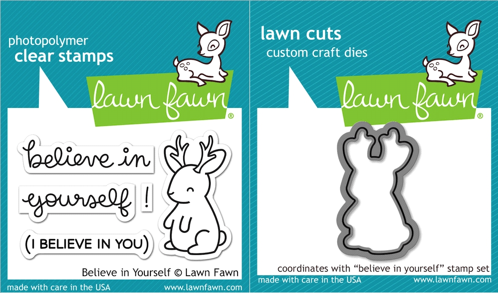 Lawn Fawn SET LF16SETBIY BELIEVE IN YOURSELF Clear Stamps and Dies zoom image