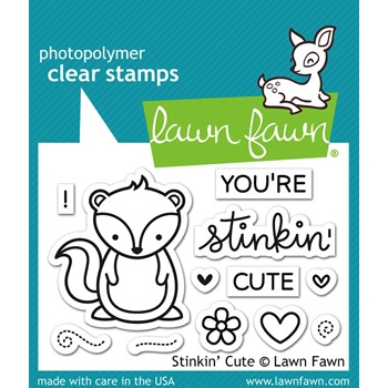 Lawn Fawn STINKIN' CUTE Clear Stamps LF1022