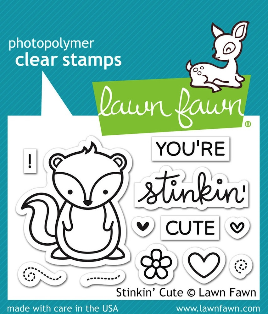Lawn Fawn STINKIN' CUTE Clear Stamps LF1022 zoom image