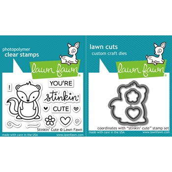 Lawn Fawn SET LF16SETSTC STINKIN' CUTE Clear Stamps and Dies