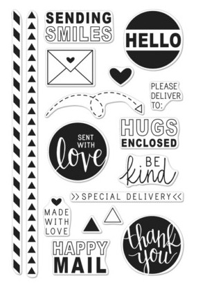 Hero Arts Clear Stamps HAPPY MAIL CL981 zoom image