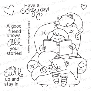 Newton's Nook Designs A COZY DAY IN Clear Stamp Set 20160504
