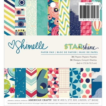 American Crafts Shimelle STARSHINE 6x6 Paper Pad 374047