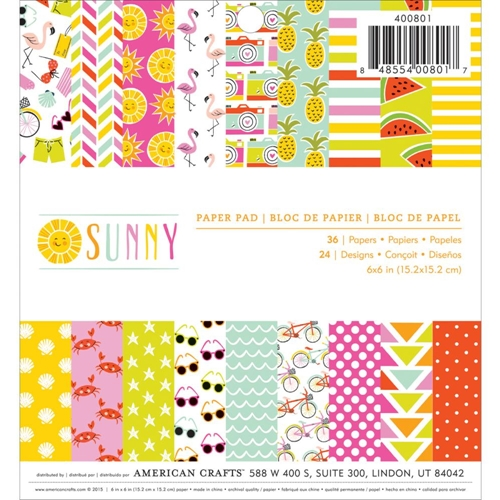Imaginisce SUNNY 6x6 Paper Pad 400801 Preview Image