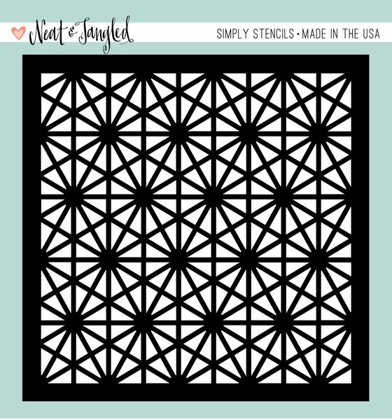 Neat and Tangled HEXASTAR Stencil NAT168* zoom image