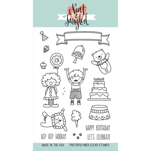 Neat and Tangled BIG TOP BIRTHDAY Clear Stamp Set NAT162 Preview Image