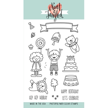 Neat and Tangled BIG TOP BIRTHDAY Clear Stamp Set NAT162