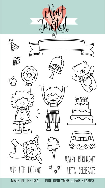 Neat and Tangled BIG TOP BIRTHDAY Clear Stamp Set NAT162 zoom image