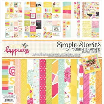 Simple Stories SUNSHINE AND HAPPINESS 12 x 12 Collection Kit 7200