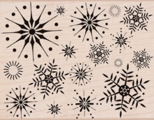 Hero Arts Rubber Stamp Designblock STUNNING SNOWFLAKES s5069 Preview Image